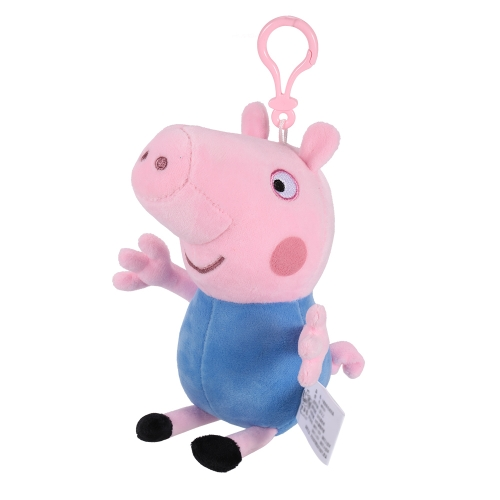 Original Brand Peppa Pig 19cm Brother George Bag Pendant Keychain Stuffed Plush Toy Family Party Christmas New Year Gift for Kids