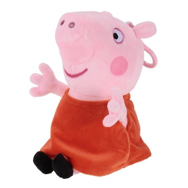 Original Brand Peppa Pig 19cm Peppa Bag Pendant Keychain Stuffed Plush Toy Family Party Christmas New Year Gift for Kids