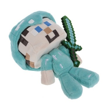 Minecraft Diamond Steve Plush Stuffed Toy Best Gift for Child and Collectors
