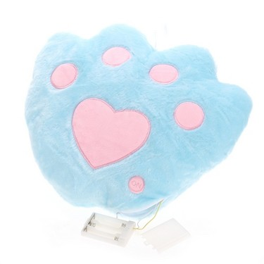 Creative Glowing LED Night Light Bear's-Paw Shape Plush Pillow Stuffed Toys