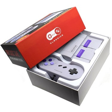SNES Game Console 8 Bit Handheld Gaming Player AV-USB Interface Built-In 660 Games