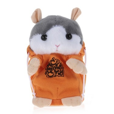 Talking Hamster Repeats What You Say Cute Plush Electronic Mimicry Hamster Interactive Stuffed Toy Gift for Kids Birthday and Party-ORANGE