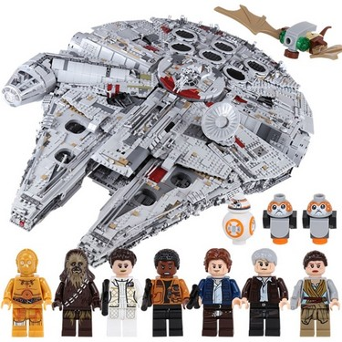 LEPIN 05132 8445pcs Star Wars Spaceship Ultimate Millennium Falcon Force Awakens Building blocks Kit Set – Plastic Bag Package