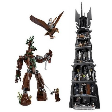Original Box LEPIN 16010 2430pcs Movie Series Lord of the Rings Tower of Orthanc Building Model Blocks Bricks Kit Set