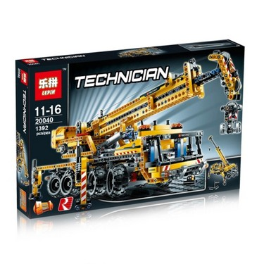 Original Box LEPIN 20040 1392pcs Technic Series Mobile Crane Model Building Blocks Bricks Kit