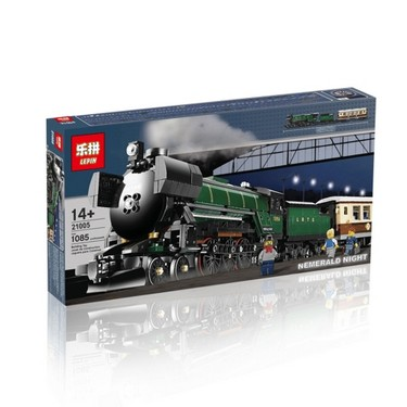 Original Box LEPIN 21005 1085pcs Technic Series Creator Emerald Night Train Model Building Blocks Bricks Kit