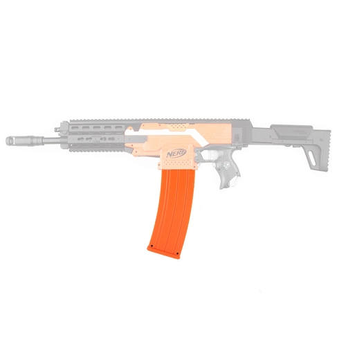 Worker 22-Dart AK Style Clip Magazine Quick Reload Clip for Nerf Toy Gun – Transparent