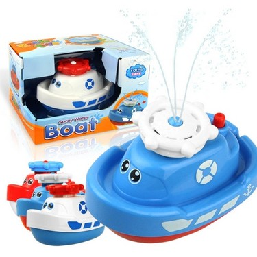Electric Spray Water Boat Baby Bath Toy Squirt Floating Fun Bathtub Toy for Baby Kids