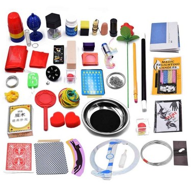 40Pcs Magic Trick Set Magic Prop Kit for Magic Learner and Lover Children Christmas Gift