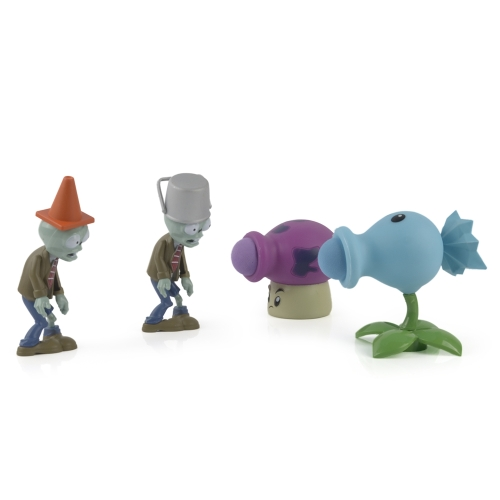 3Pcs Plants VS Zombies PVC Action Figure Set Collectible Mini Figure Toy Kids Dolls Birthday Gift