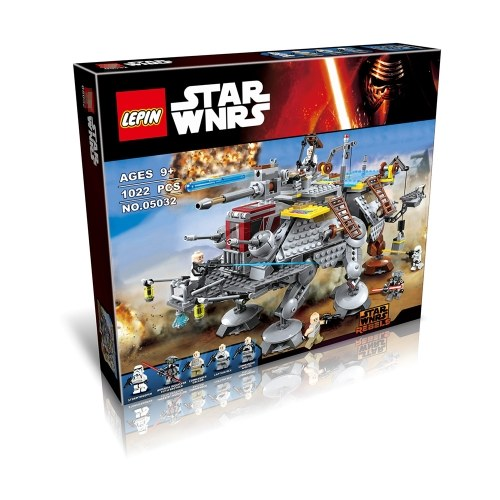 LEPIN 05032 1022pcs Star Wars Series Captain Rex's AT-TE Building Blocks Kit Set