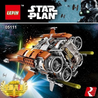 LEPIN 05111 482pcs Star Wars Series Jakku Quad Jumper Building Blocks Kit Set