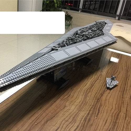 LEPIN 05027 3250pcs Star Wars Series Imperial Star Destroyer Building Blocks Kit Set – Plastic Bag Package