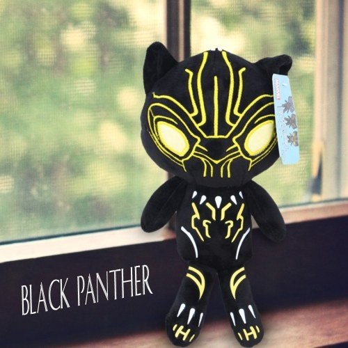 Marvel Avengers 3 Black Panther Stuffed Plush Toy Family Party Doll Christmas New Year Gift for Kids