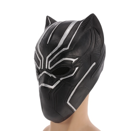 Black Panther Mask Superhero Latex Costume Mask Headgear for Halloween Cosplay Party Decoration Backroom Film Props