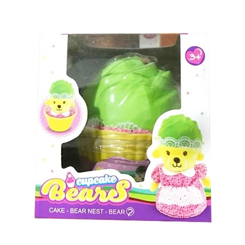 Cupcake Surprise Doll Toys Reversible Cake Transform To Mini Bear Doll Magic Gift Toys for 3 Years Old Kids – Color Random