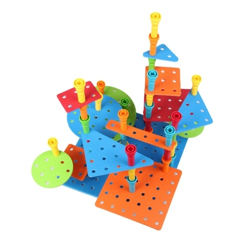 103Pcs Pegs Building Set Creative Construction Engineering Fun Educational Toy Best Toy Gift for Kids