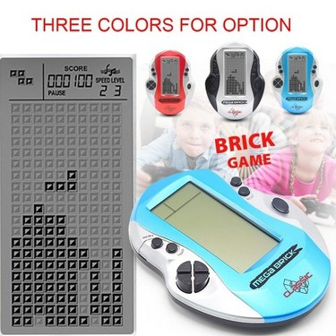 Pocket Handheld Video Game Console 3in LCD Mini Portable Brick Game Player w/ Built-in 26 Games