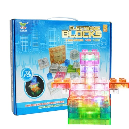 19 Pieces Electronic Building DIY Educational Stacking Toys Brain Game set