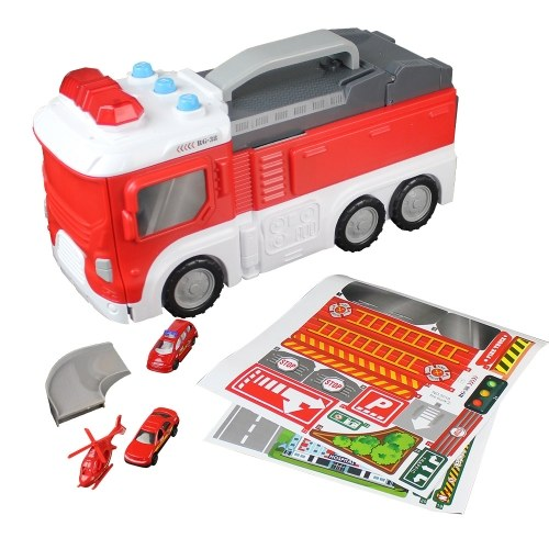 Assembling Fire Truck Multi-functional DIY Building Car