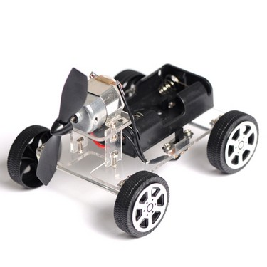 Puzzle Mini Baby Child Educational DIY Wind-up Toy Wind Assemble Car Toys Wind-powered Intellectual Auto Motor Robot