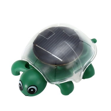 1 Pc Solar Powered Energy Mini Crawling Turtle Cute Tortoise Run Under the Sun Educational Toy Gadget Gift