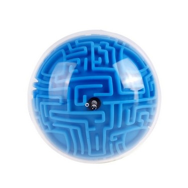 Mini 3D Magic Ball Puzzle Intelligence Maze Game Round Shape Toy Challenging Gifts for Kids and Adults Red