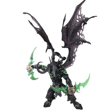 World of Warcraft Collector Action Figure Demon Hunter Illidan Stormrage Statue PVC Collection Model Toy Gifts Doll