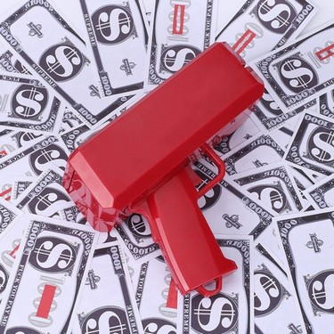 Funny Party Gift Bill Counting Machine Post Money Gun with 100pcs Paper