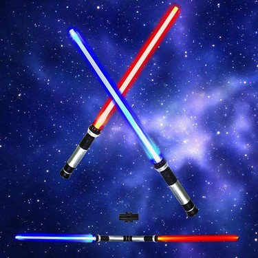 Star Wars Laser Sword Cosplay Prop Shine Sound and Light and Changeable Color Kids Outdoor Luminous Toy Flashing Gift