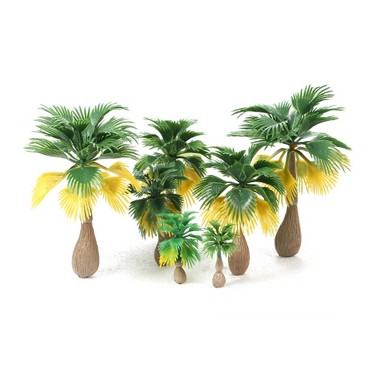 15pcs Miniature Landscape Scenery Layout Model Train Palm Trees Rain Forest Scale 1: 100-1:300
