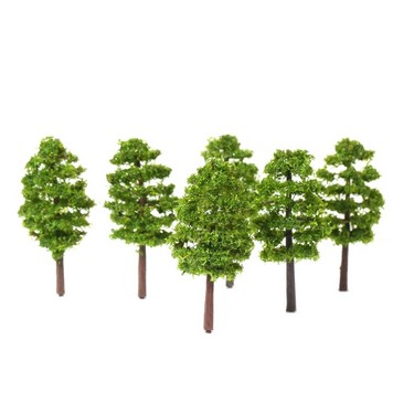 20 Pcs Model Trees Architectural Railroad Layout Garden Landscape Scenery Miniatures Supplies Building Kits Toys Style 1