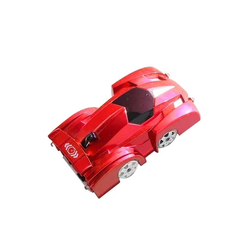 Remote Control Car Toy With LED Light Magic Wall Floor Climber Climbing Racer RC Sport Racing Vehicle Anti-gravity Mini Stunt Car Machine Auto Gift for Children (Red)