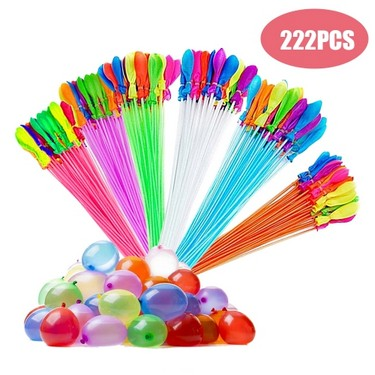222pcs Bunch Balloons Magic Colorful Water Balloons