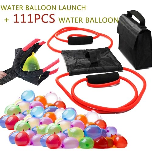 Water Balloon Launcher Snowball Fight Tool with 111Pcs Water Balloon