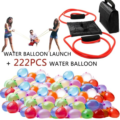 Water Balloon Launcher Snowball Fight Tool with 222Pcs Water Balloon