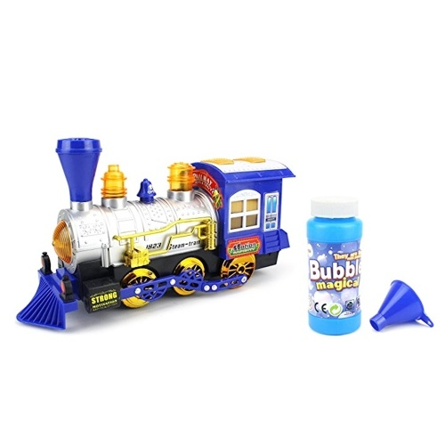 Bubble Blowing Battery Powered Locomotive Train with Light And Music