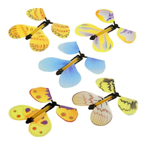 5 Pcs Magic Toys Flying Butterfly