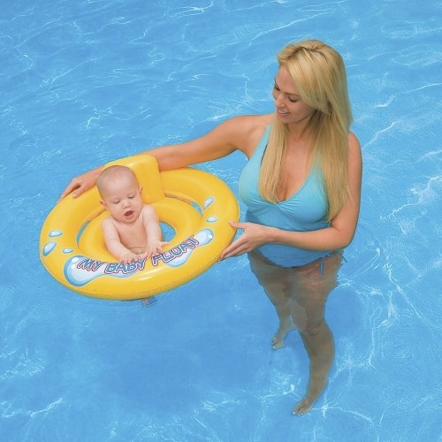 Baby Float Swimming Aid Swim Seat Ring Pool Infant Chair Lounge with Backrest