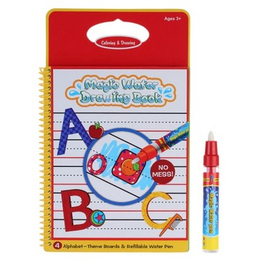 Non-toxic Magic Water Drawing Book Coloring Book Doodle with Magic Pen Alphabet Writing No Ink Educational Toy