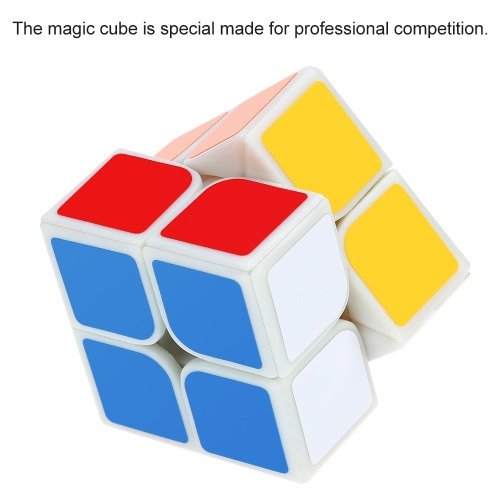 Dayan Zhanchi 2 * 2 Magic Cube Speed Cubo Anti-POP Structure 6 Color Solid Eco-friendly Plastics Stickerless Cube Puzzle Colorful Ground 50 MM