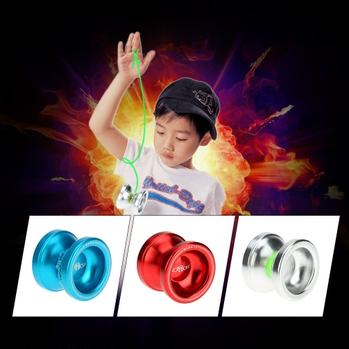 Professional Magic Yoyo T6 Rainbow Aluminum Alloy Metal Yoyo 8 Ball KK Bearing with String for Kids Silver