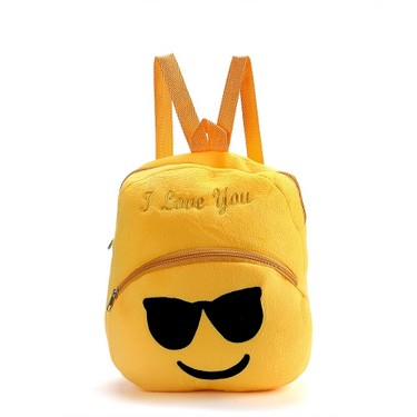 Cute Emoji Emoticon Shoulder Bag Lovely School Child Bag Plush Toy Backpacks Satchel Rucksack Schoolbag Gifts for Boys Girls Kids 6#