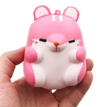 1Pcs Cute Kawaii Soft Squishy Squeeze Colorful Simulation Hamster Toy Slow Rising for Relieves Stress Anxiety Home Decoration