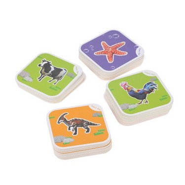 68Pcs Fancy Zoo Magic 4D Augmented Reality Flashcards AR Land Marine Flying Animal Insects and Dinosaurs Educational Game 13 Switchable Languages Best Toy Gift For Kid