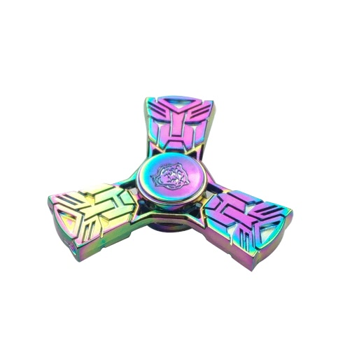 New Style Rainbow Fidget Toys Anti-Anxiety Spinner 360° Tri Triangle Focusing EDC Focus Toy for Kids Adults Stress Reducer Relieves ADHD Anxiety Desk Portable
