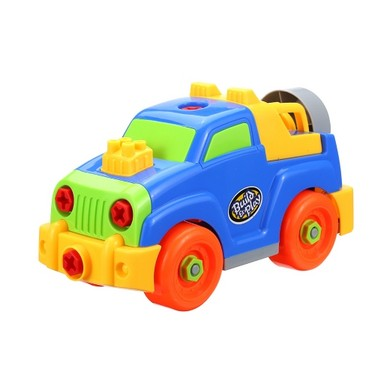 Baby Kids Puzzle Educational Toys Children Disassembly Assembly Cartoon Car Gift Excavating Machinery Toy Great for Fun Playing Style 1