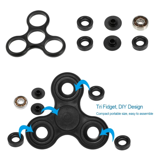 Docooler JH-812 Stereo BT Headphone Wireless BT 4.1 Headset 3.5mm MP3 Player TF Card FM Radio Hands-free Black + DIY Tri Fidget Spinner
