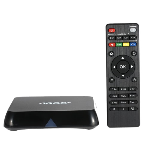 M8s+ / M8S Plus Smart Android TV Box Android 5.1 S812 Quad Core KODI XBMC 15.2 2G / 8G Mini PC 2.4G & 5G WiFi H.265 DLNA Airplay Miracast HD Media Player