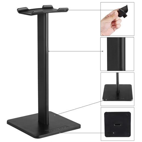 NewBee Universal Headphone Holder Portable Headset Stand TPU Material Earphone Display Rack White Home Exhibition Center Store Use.